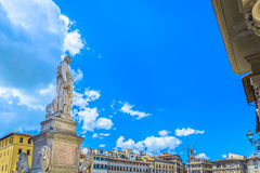 Square in Florence Italy, medieval time. Royalty Free Stock Images