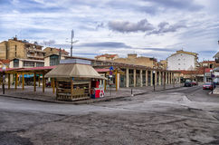 A square in Florina, a popular winter destination in northern Greece Royalty Free Stock Image
