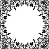 Square flower decoration with frame Stock Photos