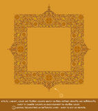 Square Flower Decorative Ornaments - Ochre. Flower Decorative Ornamental square frame. EPS-10 all elements neatly on well-defined layers and groups. Easy to edit Stock Photos