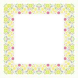 Square Flower Floral Border - Frame with new design Stock Image