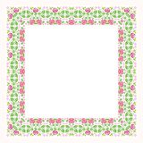 Square Flower Floral Border - Frame with new design Royalty Free Stock Photos