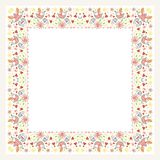 Square Flower Floral Border - Frame with new design Stock Images