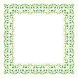 Square Flower Floral Border - Frame with new design Royalty Free Stock Images