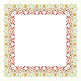 Square Flower Floral Border - Frame with new design Royalty Free Stock Photo
