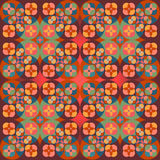 Square flower pattern symmetrical. Bright background Stock Photo