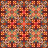 Square flower pattern symmetrical. Bright background Stock Photo