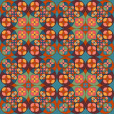 Square flower pattern symmetrical. Bright background Royalty Free Stock Photo