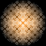 Square flower pattern symmetrical. Bright background Royalty Free Stock Photography