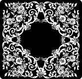 Square flower white pattern Royalty Free Stock Photos