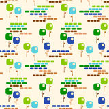 Square flowers garden seamless pattern Stock Photos