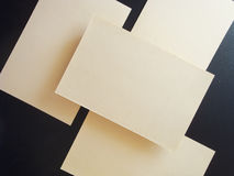 Square Flyer. Letterheads template. Changeable background . Flat lay. Flat design Stock Photo