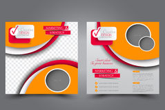 Square flyer template. Brochure design. Annual report poster stock illustration