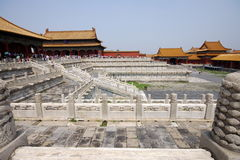 Square in Forbidden City Stock Image