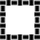 Square format photo, picture frame with mosaic of lines. Royalty Free Stock Photo