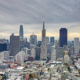 Square format of San Francisco, California city center Royalty Free Stock Image