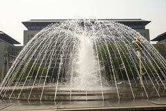 Square fountain Royalty Free Stock Photos