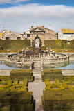 Square Fountain and Mannerist garden. Lazio, Italy. Royalty Free Stock Images