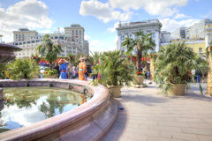 Square with a fountain near the Bolshoi Theatre Stock Image