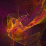 Square fractal background. Elegant square glow fractal background vector illustration