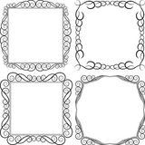 Square frame. S - clip art illustration Royalty Free Stock Photo