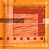 Square frame. Vector stylized square frame, the primitivism Royalty Free Stock Photo