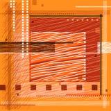 Square frame. Vector stylized square frame, the primitivism Vector Illustration