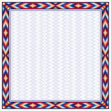 Square frame and background pattern in American Indians style. Royalty Free Stock Image