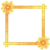 Square Frame with Bow Royalty Free Stock Image