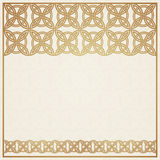 Square frame with celtic ornament Royalty Free Stock Images