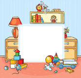 Square Frame with a Children Room Stock Images