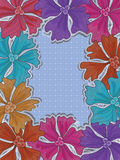 Square Frame Colorful Flowers_eps Royalty Free Stock Images