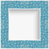 Square frame with cutout lace border pattern. Square photo frame with lace border pattern, swirly ornament suitable for laser cutting or cutout paperwork royalty free illustration