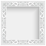 Square frame with cutout paper lace border Royalty Free Stock Images
