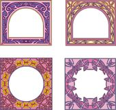 Square frame decorations Stock Images