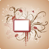 Square frame with foliage Royalty Free Stock Photography