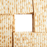 Square frame formed with matza flatbread Royalty Free Stock Photography
