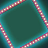 Square frame with glowing light bulb Royalty Free Stock Photo