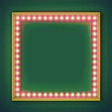 Square frame with glowing light bulb Stock Image