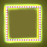 Square frame with glowing light bulb Stock Photos