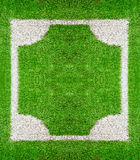 Square frame on grass ground Stock Photo
