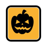 Square frame of halloween with pumpkin Stock Image