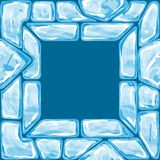 Square frame on Ice seamless pattern Stock Images