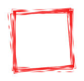 Square frame. Of intertwined red lines on white background stock illustration