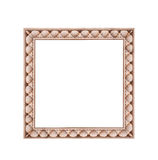 Square frame isolated on a white background stone Royalty Free Stock Photos