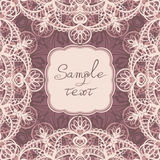 Square frame with lace Royalty Free Stock Photos