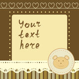 Square frame with little bear Royalty Free Stock Image