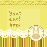 Square frame with little bunny Royalty Free Stock Photography