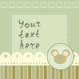 Square frame with little mouse Royalty Free Stock Images