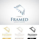 Square Frame Logo Icon in Various Colors Royalty Free Stock Photo